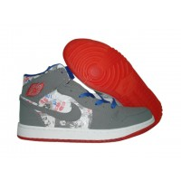 Air Jordan Retro 1 LS grey white red
