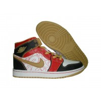 Air Jordan 1 Retro black red gold