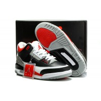 Air Jordan 3 Retro Black Varsity Red Cement Grey