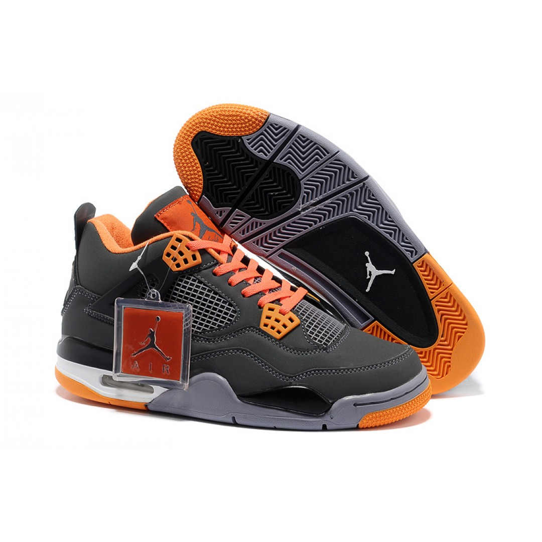 reputable site dac6a 50c82 Air Jordan 4 New Colorway Grey Orange Black Leather