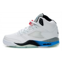Air Jordan 5 Retro White Blue Black