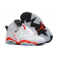 Air Jordan 6 Retro White Varsity Red Shoes