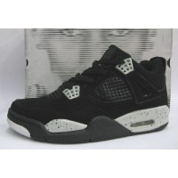 Air Jordan Retro 4 black cement grey