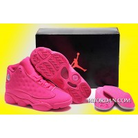 Women Air Jordan 13 GS All-Pink Copuon