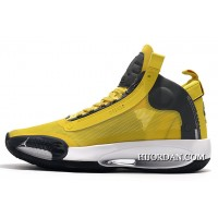 Air Jordan 34 Xxxiv Yellow/Grey-White Shoes Copuon