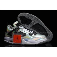 "Air Jordan 4 Retro ""Prism"" Metallic Silver/Black-White"