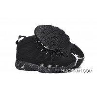 Jordan 9 High-4 Black WHite Point New Year Deals