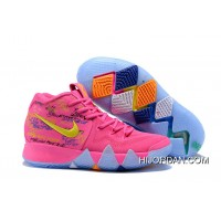 2018 Nike Kyrie Shoes X Kids Kyrie 4 What The Pink Teal Christmas For Sale