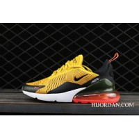Free Shipping Nike Air Max 270 Tiger Black/University Gold-Hot Punch-White