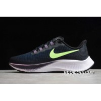 2020 Nike Air Zoom Pegasus 37 Black/Green BQ9646-001 Free Shipping