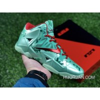 Nike LeBron 11 Christmas Green Glow/Light Crimson-Arctic Green 2018 New Edition Latest