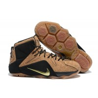 "Nike Lebron 12 ""Cork"" Cork/Black-Metallic Gold New Releases"