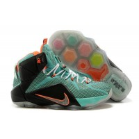 Nike LeBron 12 Turquoise/Black-Total Orange Cheap For Sale